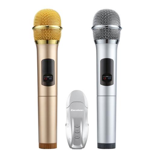 Mic Karaoke Không Dây Excelvan K18U (Mic đôi)
