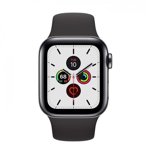 Apple Watch Series 5 LTE, 44mm Sport Band - Vỏ nhôm xám - Dây cao su